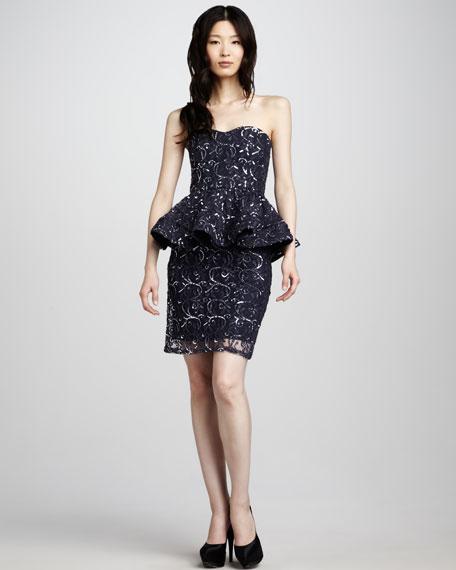 Elise Sequined Peplum Dress