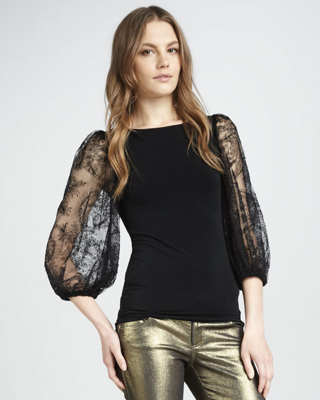 Hunter Lace-Sleeve Top