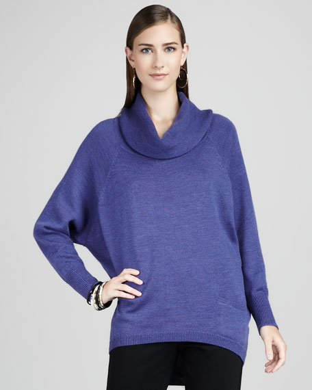 Merino Funnel-Neck Top