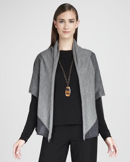 Dolman-Sleeve Alpaca Cardigan