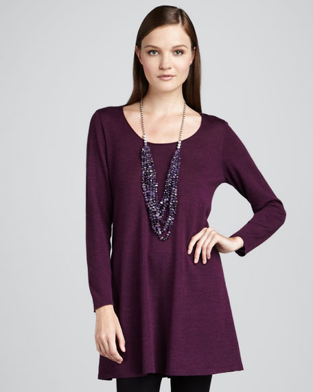 Long-Sleeve Wool Tunic