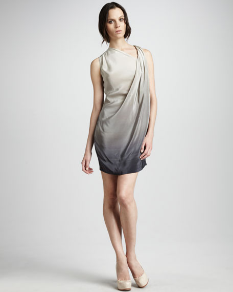 Draped Ombre Dress