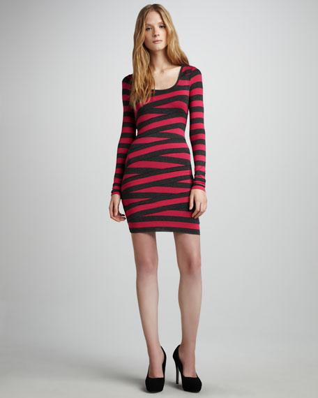 Crisscross Striped Dress