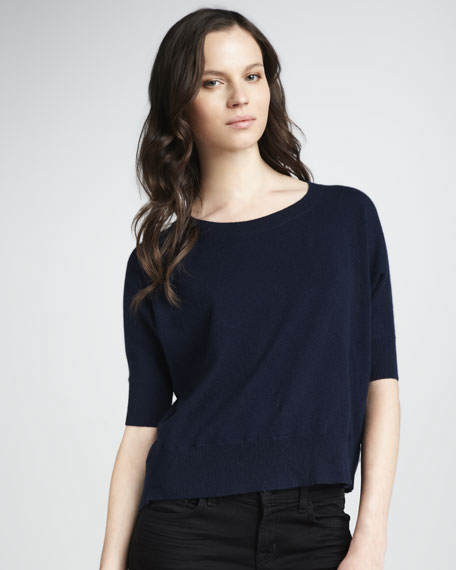 Sheer-Back Cashmere Sweater