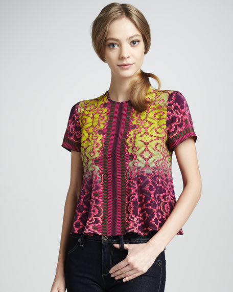 Jewel-Print Top