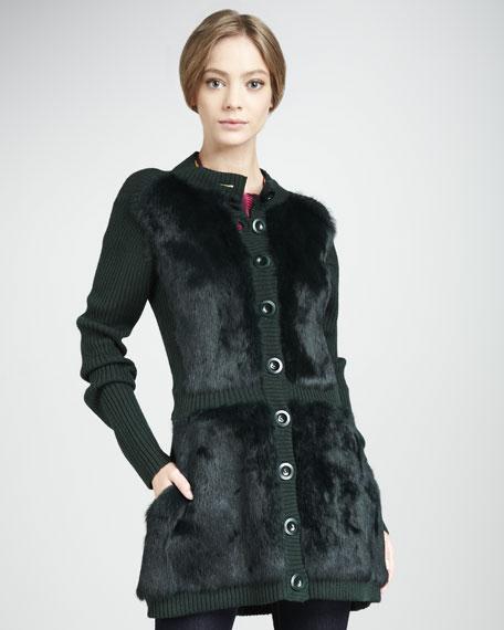 Divine Rabbit Sweater Coat