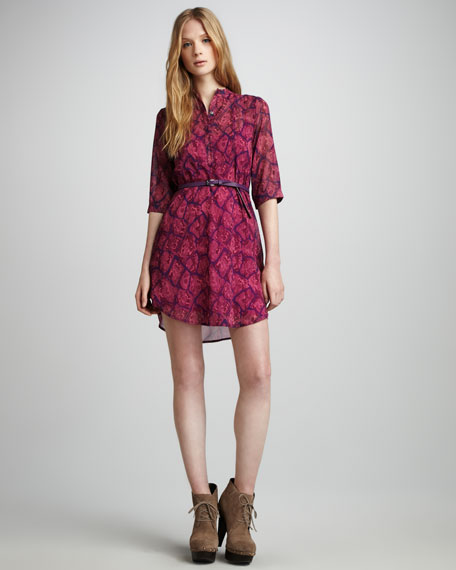 Nickie Python-Print Dress