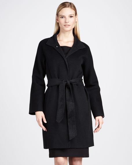 Brushed Wool Coat