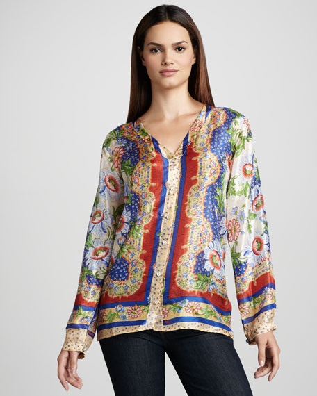 Quianna Silk Blouse, Women's