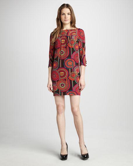 Medallion-Print Dress