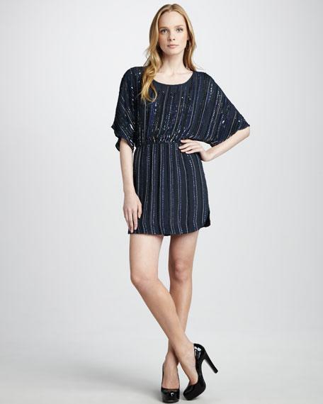 Beaded Blouson Dress