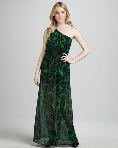 Gidget Baroque-Print Maxi Dress