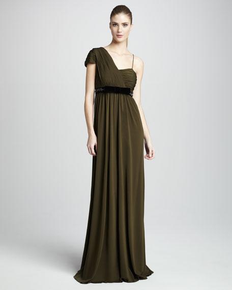 Zoe Asymmetric Rayon Gown