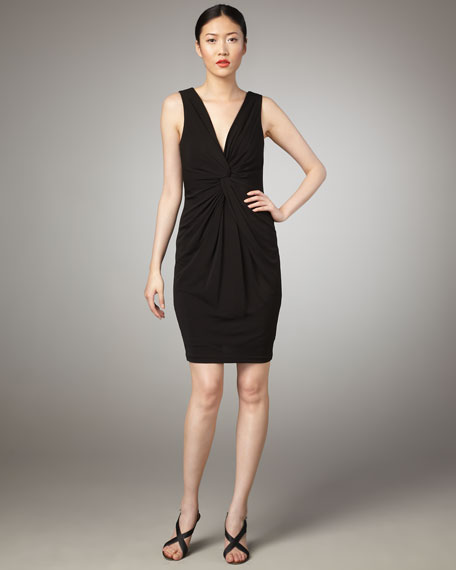 Marilyn Knotted Dress, Black
