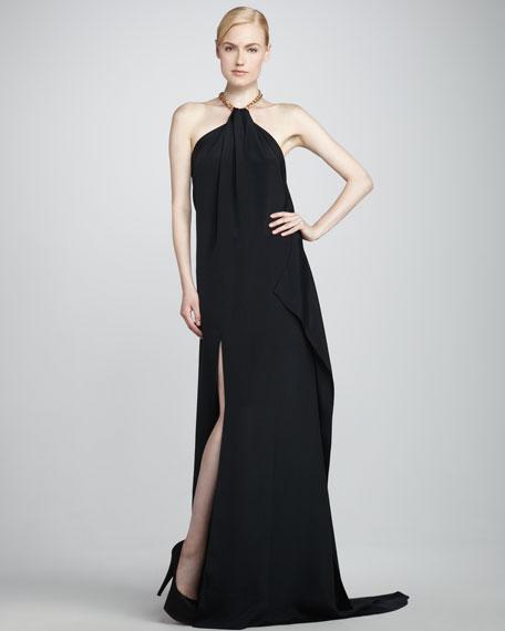 Eniko Halter Gown, Black