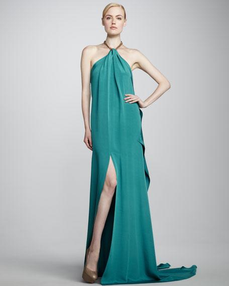 Eniko Halter Gown, Turquoise
