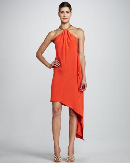 Karina Halter Dress, Coral