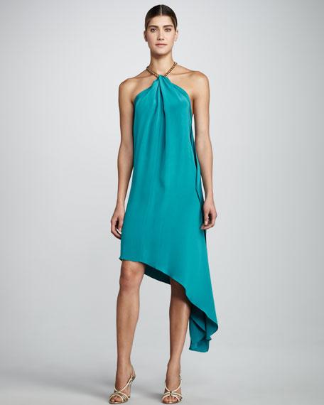 Karina Halter Dress, Turquoise
