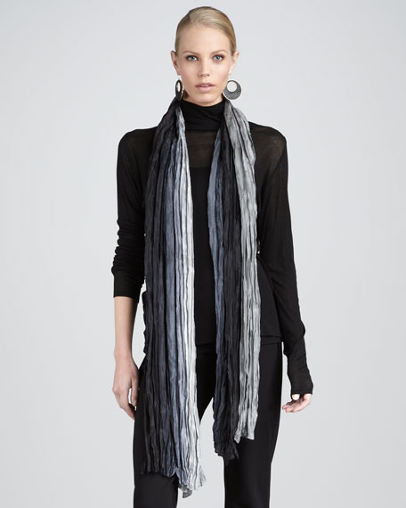Silk Ombre Wrap, Black/Ash