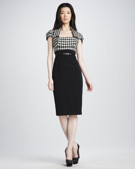 Houndstooth-Top Dress
