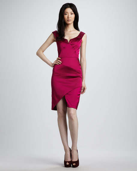 De Jour Satin Dress