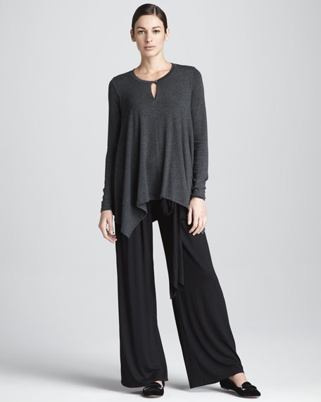 Jersey Pleated Pants