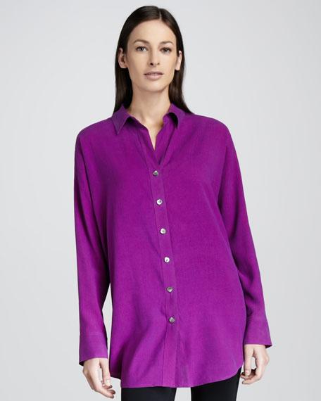 Long Big Silk Shirt, Women's