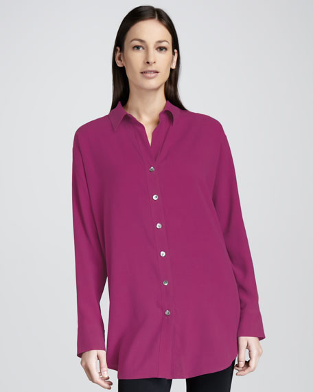 Long Big Silk Shirt