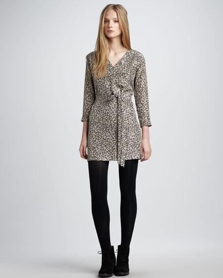 Leopard-Print Dress