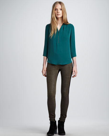 High-Waist Skinny Pants