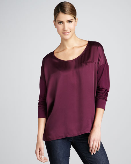 Lux Charmeuse Top