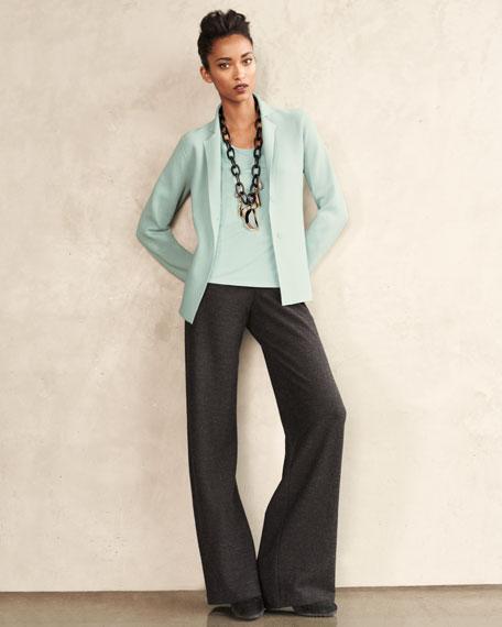 Wide-Leg Wool Pants, Women's