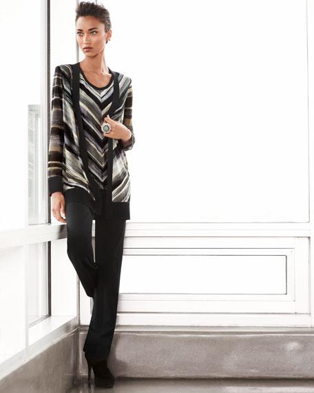 Mitered Striped Cardigan, Women's