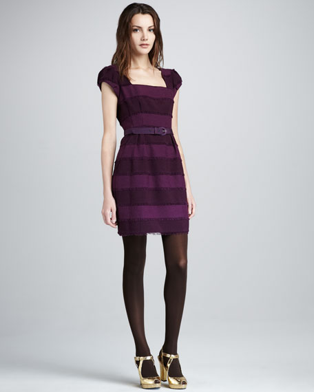 Catch Me Tonal-Stripe Dress