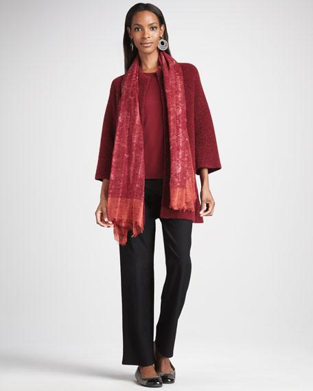 Long Boucle Jacket, Women's