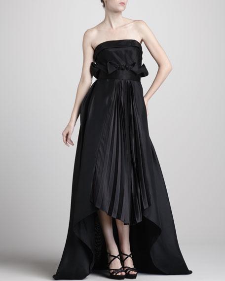 Satin-Panel Gazaar Gown