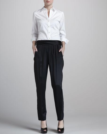 Crepe-Back Satin Pants