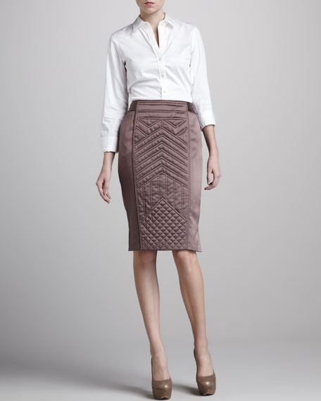 Crepe/Satin Pencil Skirt