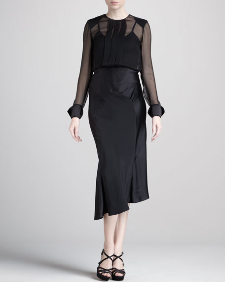 Crepe/Satin Bias Skirt
