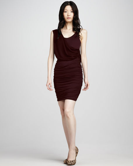 Draped Fitted Dress