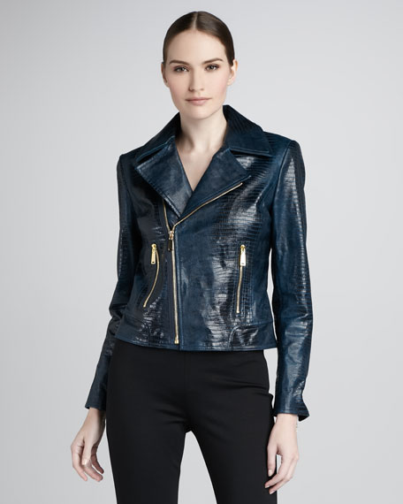 Mae Leather Moto Jacket