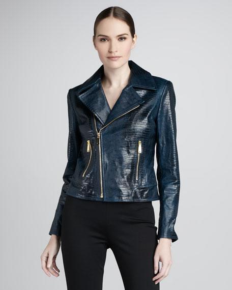 Mae Leather Moto Jacket