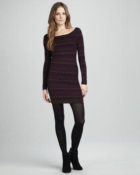 Cabin Knit Long-Sleeve Dress