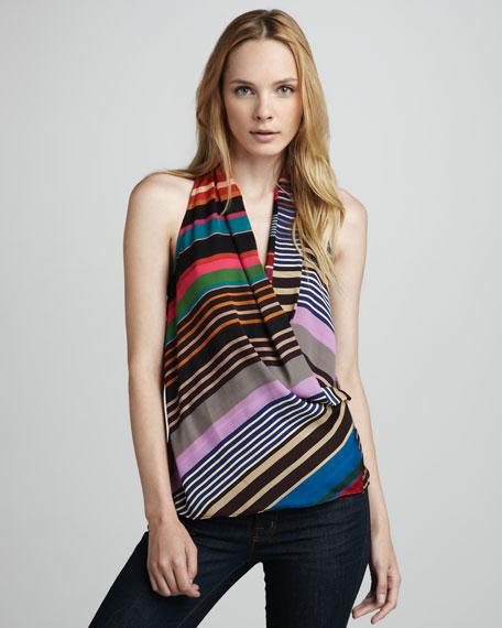 Striped Surplice Top