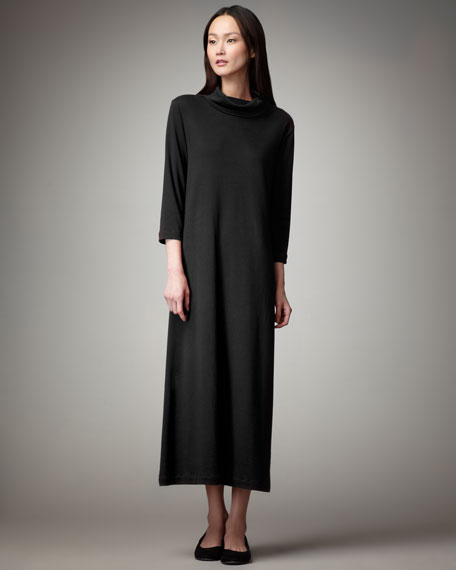 Women's Turtleneck Maxi Dress, Black