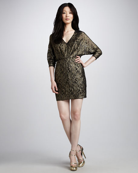 Birch Metallic Dress