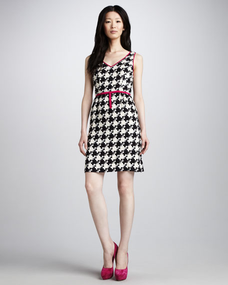 Abbey Houndstooth Dress