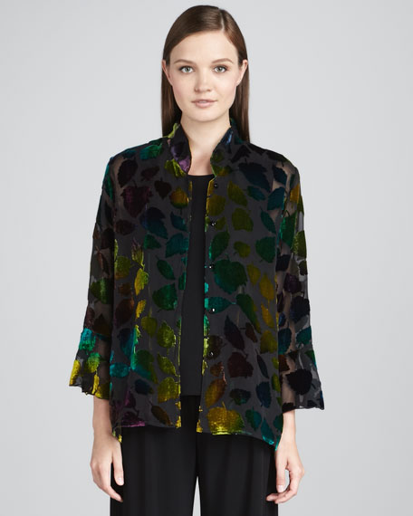 Burnout Leaves Blouse