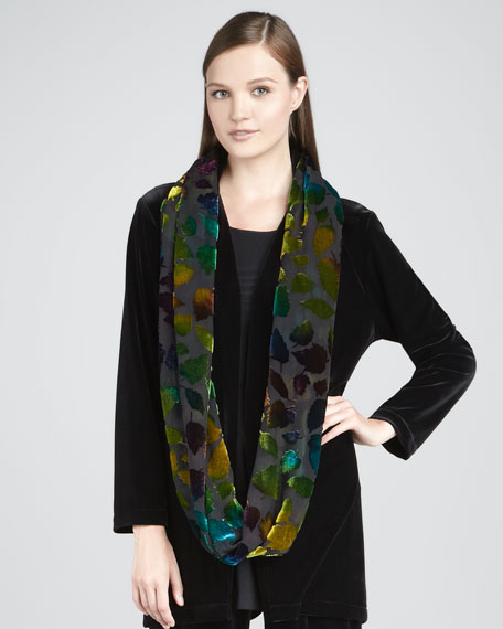 Burnout Leaves Infinity Scarf