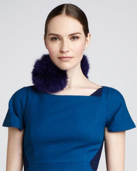 Sophia Fur Snap Cuff/Collar